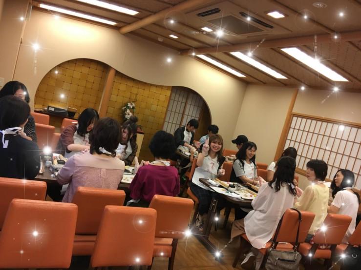 H30.9社員旅行♬和菓子作り体験ナウ(^^)v